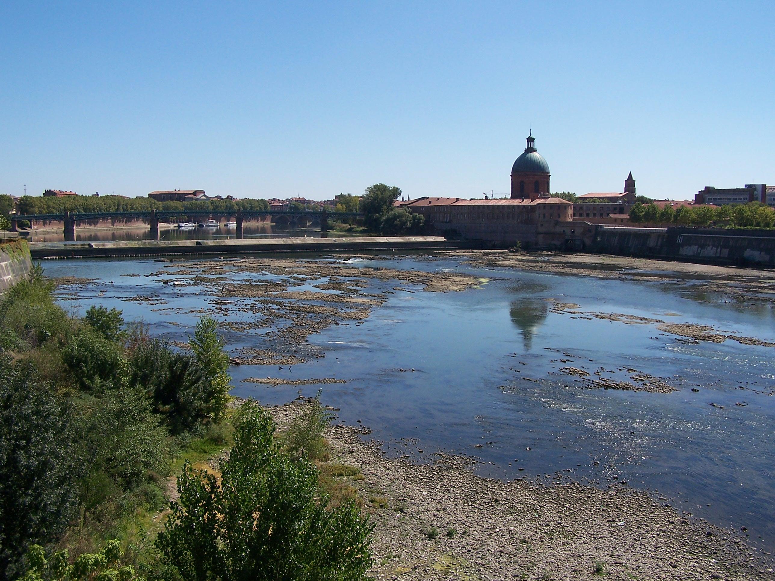 étiage de la Garonne à Toulouse